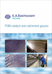 English brochure about PGM catalyst and catchment gauzes.